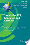 Sustainable ICT  Education and Learning
