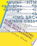Peter Sloan Teaches Html Programming Book