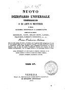 *Supplimento al nuovo dizionario universale tecnologico o di arti e mestieri : compilato sulle migliori opere di scienze ed arti pubblicatesi negli ultimi tempi ... -