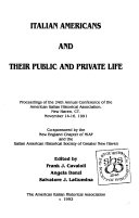 Italian Americans And Their Public And Private Life