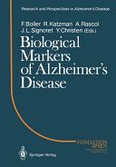 Biological Markers of Alzheimer   s Disease Book