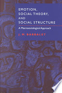 Emotion  Social Theory  and Social Structure Book
