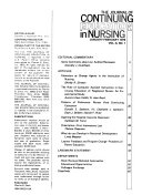 The Journal of Continuing Education in Nursing Book
