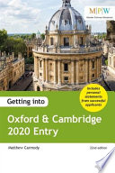Getting Into Oxford and Cambridge 2020 Entry Book