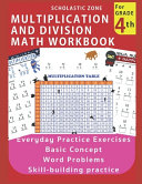 Multiplication And Division Math Workbook For 4th Grade