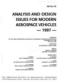Pdf Analysis and Design Issues for Modern Aerospace Vehicles, 1997