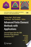 Advanced Finite Element Methods with Applications