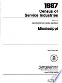 1987 Census Of Service Industries Geographic Area Series 52 Pts