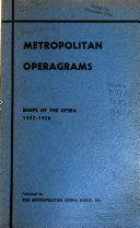 Metropolitan Operagrams Book