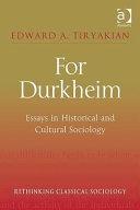 For Durkheim