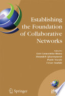 Establishing the Foundation of Collaborative Networks Book