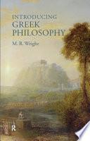 Introducing Greek Philosophy Book