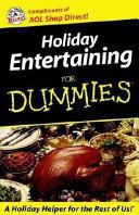 Holiday Entertaining for Dummies America Online Mi Nibook