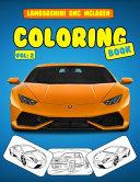 Lamborghini GMC McLaren Coloring Book Vol