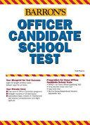 Barron's Officer Candidate School Test
