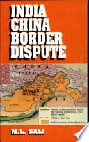 India China Border Dispute Book