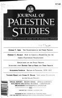 Journal Of Palestine Studies