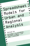 Pdf Spreadsheet Models for Urban and Regional Analysis