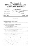 The Journal Of Social Political And Economic Studies Book PDF