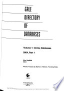 Gale Directory of Databases  , Band 1,Teil 1