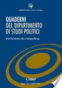 Quaderni del Dipartimento di studi politici (2007)