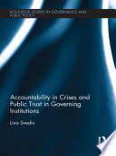 Accountability in Crises and Public Trust in Governing Institutions Book