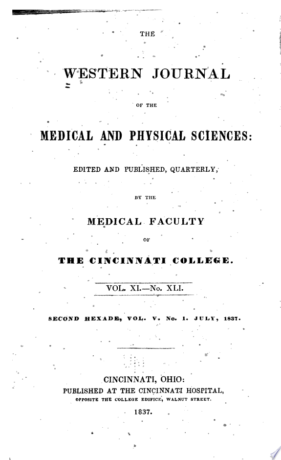 The Western Journal of the Medical and Physical Sciences