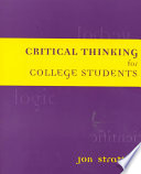 Critical Thinking For College Students Book PDF
