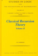 Classical Recursion Theory  Volume II