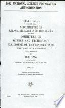 1982 National Science Foundation Authorization