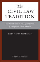 The Civil Law Tradition  3rd Edition