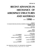 Recent Advances in Mechanics of Aerospace Structures and Materials  1998 Book