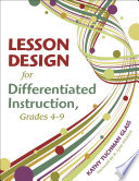 Lesson Design for Differentiated Instruction  Grades 4 9