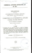 Commercial Activities Contracting Act of 1987