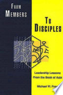 From Members to Disciples Book