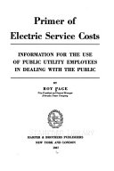 Primer of Electric Service Costs