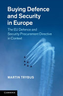 Buying Defence and Security in Europe