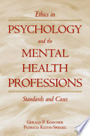 Ethics In Psychology And The Mental Health Professions Book PDF