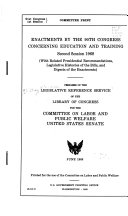 Enactments by the 90th Congress Concerning Education and Training