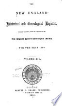 The New England Historical Genealogical Register And Antiquarian Journal