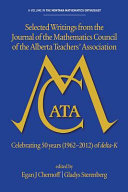 Selected writings from the Journal of the Mathematics Council of the Alberta Teachers' Association Pdf/ePub eBook