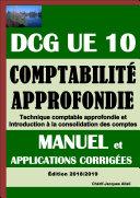 Pdf Comptabilité approfondie - DCG UE 10 - Manuel et applications corrigées - Edition 2018/2019 Telecharger