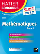 Hatier Concours CRPE 2017 - Epreuve écrite d'admissibilité - Mathématiques