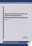 Machinery  Materials Science and Engineering Applications  MMSE2011 Book