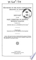 Provisions of the State Constitutions Relating to Taxation Book PDF