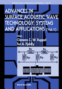 Advances In Surface Acoustic Wave Technology Systems And Applications Book PDF