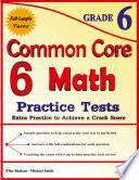 6 Common Core Math Practice Tests Grade 6