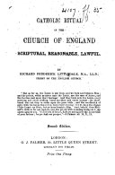 Catholic Ritual in the Church of England     Second edition