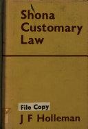 Shona Customary Law