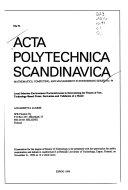 Acta Polytechnica Scandinavica